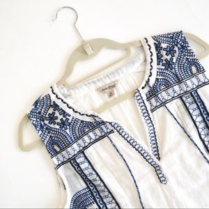 LUCKY BRAND Blue & White Tank Top